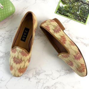Zalo Slip On Floral Loafers